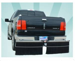 Mud Flaps by Style - Towtector Brush System - Towtector Aluminum with Double Brush Strips