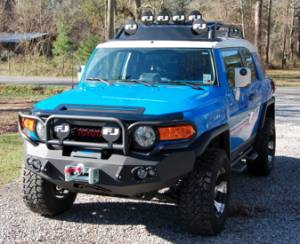 Fab Fours Premium - Front Winch Bumper with Full Grille Guard - Toyota FJ Cruiser