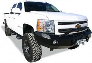 Bumpers by Style - Prerunner Bumpers - Iron Cross Winch Bumper with Push Bar