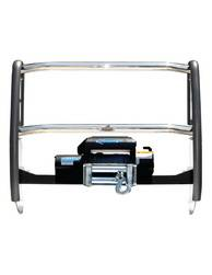 Grille Guard/Brush Guard - Grille Guard - Go Rhino - Go Rhino 23109PS Go Rhino Winch Bumper Guard