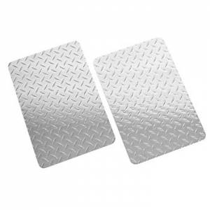 Mud Flaps by Vehicle - Mud Flaps for Trucks - Owens - Owens 861218D Universal 12 x 18 Diamond Plate Mud Flaps