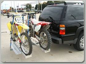 B-Dawg Hitch Carriers   Motorcycle Carriers - Motorcycle Carrier - B-Dawg - B-Dawg BD-Double Double Aluminum Motorcycle Carrier