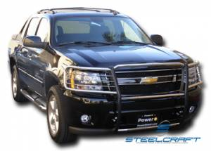 Black - Chevy - Steelcraft - Steelcraft 50210 Black Grille Guard Chevy Silverado/Avalanche 1500 (no cladding) (2003-2007)