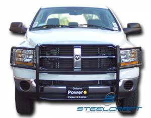 B Exterior Accessories - Grille Guards - Steelcraft - Steelcraft 52027 Stainless Steel Grille Guard Dodge Ram 2500/3500 (1994-2002)