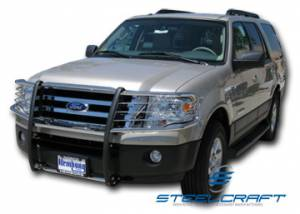 B Exterior Accessories - Grille Guards - Steelcraft - Steelcraft 51020 Black Grille Guard Ford Expedition (1999-2002)