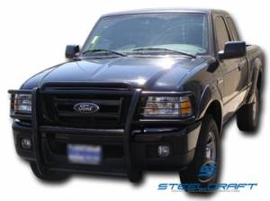 B Exterior Accessories - Grille Guards - Steelcraft - Steelcraft 51120 Black Grille Guard Ford Ranger Edge/XL (2001-2013)