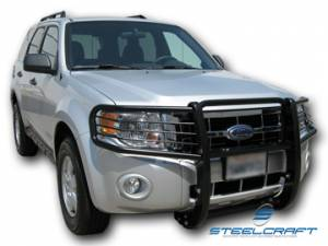 B Exterior Accessories - Grille Guards - Steelcraft - Steelcraft 51330 Black Grille Guard Ford Escape (2008-2013)