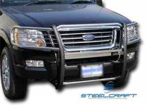 B Exterior Accessories - Grille Guards - Steelcraft - Steelcraft 51390 Black Grille Guard Ford Explorer (2011-2013)