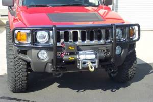 Black - Hummer - Steelcraft - Steelcraft 50280WM Black Grille Guard Hummer H3 (2006-2010)