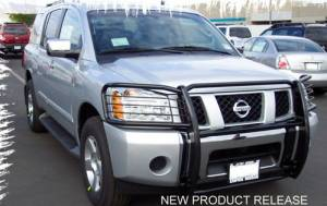 B Exterior Accessories - Grille Guards - Steelcraft - Steelcraft 54070 Black Grille Guard Nissan Titan/Armada (2004-2013)