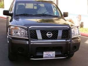 B Exterior Accessories - Grille Guards - Steelcraft - Steelcraft 54090 Black Grille Guard Nissan Pathfinder (2005-2007)