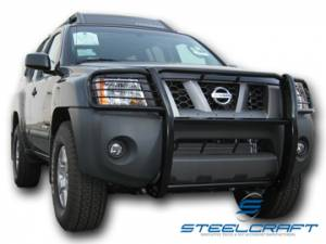 Black - Nissan - Steelcraft - Steelcraft 54120 Black Grille Guard Nissan Xterra (2005-2013)