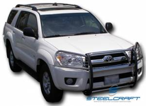 B Exterior Accessories - Grille Guards - Steelcraft - Steelcraft 53010 Black Grille Guard Toyota 4 Runner 2000-2002