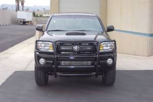 B Exterior Accessories - Grille Guards - Steelcraft - Steelcraft 53050 Black Grille Guard Toyota Tacoma (1998-2000)