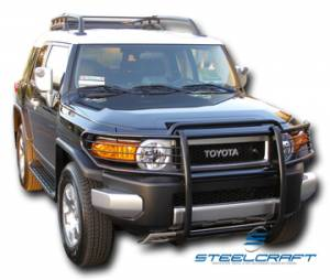 B Exterior Accessories - Grille Guards - Steelcraft - Steelcraft 53300 Black Grille Guard Toyota FJ Cruiser (2007-2013)