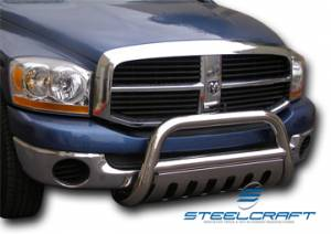 "3"" Bull Bar - Dodge - Steelcraft - Steelcraft 72250 3"" Bull Bar for (2009 - 2011) Dodge Ram 1500 W/U-Shaped Tow Hooks (Exc. Laramie) in Stainless Steel"