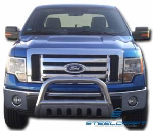 """3"""" Bull Bar - Ford - Steelcraft - Steelcraft 71010B 3"""" Bull Bar for (1999 - 2004) Ford F250/F350/F450/F550HD Super Duty in Black"""