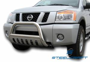"3"" Bull Bar - Nissan - Steelcraft - Steelcraft 74010 3"" Bull Bar for (2004 - 2011) Nissan Titan/Armada in Stainless Steel"