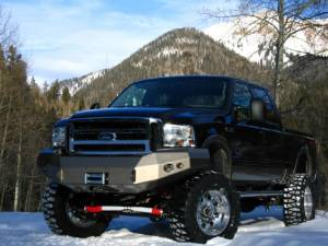 Fab Fours Front Bumper with No Grille Guard - Ford - Fab Fours - Fab Fours FS05-A1251-1 Winch Front Bumper Ford Super Duty 2005-2007