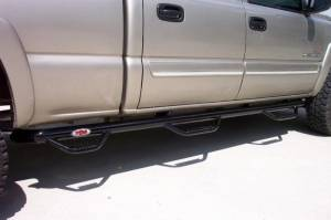 "B Exterior Accessories - Running Boards and Nerf Bars - N-Fab - N-Fab C01105CC-6 Bed Access Nerf Steps Chevy/GMC 1500/2500/3500 Crew Cab 6'6"" Bed 2001-2006"