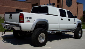 B Exterior Accessories - Running Boards and Nerf Bars - N-Fab - N-Fab C01115CC-6 Bed Access Nerf Steps Chevy/GMC 2500/3500 Crew Cab 8' Bed 2001-2006
