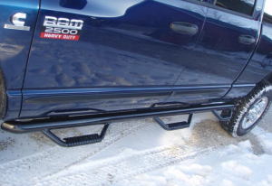 "N Fab Bed Access Nerf Steps - Dodge - N-Fab - N-Fab D0289QC-6 Bed Access Nerf Steps Dodge Ram Quad Cab 4 Door 6'4"" Bed 2002-2008"