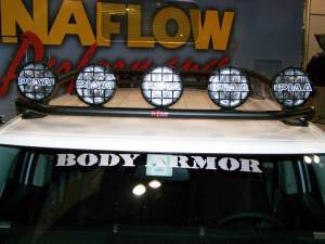B Exterior Accessories - Light Bars - N-Fab - N-Fab TFJ5FLR Light Bar Toyota FJ Front Roof Mounted Light Bar 2005-2013