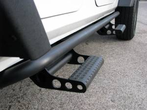 N Fab Rock Rails & Detachable Steps - Jeep - N-Fab - N Fab J072RKR Rock Rail Jeep Wrangler 2 Door JK (2007-2013)