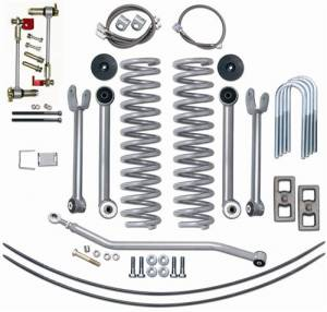 "Lift Kits - Rubicon Express Lift Kits - Rubicon Express - Rubicon Express RE6111 4.5"" Super-Flex Kit with Add-A-Leafs Jeep XJ 1984-2001"