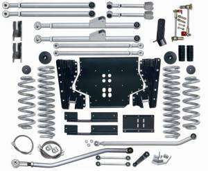 "Lift Kits - Rubicon Express Lift Kits - Rubicon Express - Rubicon Express RE7204 Extreme-Duty Long Arm 4.5"" Jeep TJ 1997-2002"