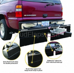 "Towtector Premium Rock Guard (Steel Frame with 2 brush sets) - RV and Motorhomes (96"" Rock Guard System) - Towtector - Towtector 29618 Premium Brush System 96"" Wide x 18"" Height for 2"" Receiver"