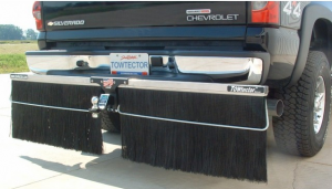 "Towtector Aluminum Rock Guard (Aluminum Frame) - Full Size Trucks (78"" Rock Guard System) - Towtector - Towtector 17814-AL Aluminum Brush System 78"" Wide x 14"" Height"