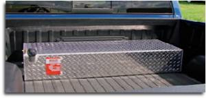 """Aluminum Tank Industries - ATI AUX80L-B L-Shaped 80 Gallon Diesel Auxiliary Tank Black 9.5"""" x 48.5"""" x 28"""" x 26"""" x 8"""" x 16.5"""""""