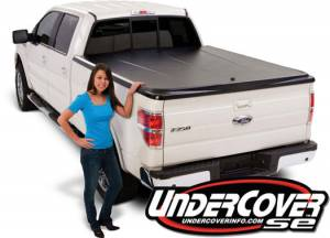 Undercover Truck Bed Covers - SE Texture Tonneau Cover - Undercover - Undercover UC4086 SE Textured Tonneau Cover Toyota Tundra 5.5' Bed with rail 2007-2012