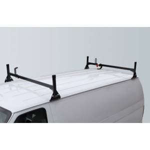 Vantech Racks - Fullsize Van Racks - Vantech - Vantech H1022B 2 Bar Rack Black Steel Chevrolet Express 1996-2012