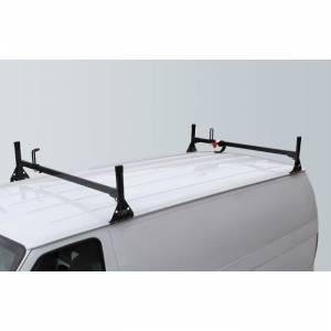 Vantech Racks - Fullsize Van Racks - Vantech - Vantech H1082B 2 Bar Rack Black Steel Ford Econoline 1992-2012
