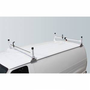 Vantech Racks - Fullsize Van Racks - Vantech - Vantech H1082W 2 Bar Rack White Steel Ford Econoline 1992-2012