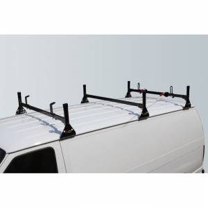 Vantech Racks - Fullsize Van Racks - Vantech - Vantech H1053B 3 Bar Rack Black Steel GMC Savana 1996-2012