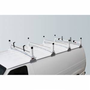 Vantech Racks - Fullsize Van Racks - Vantech - Vantech H1024W 4 Bar Rack White Steel Chevrolet Express 1996-2012