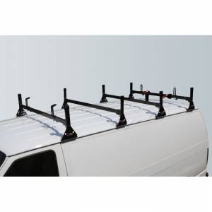 Vantech Racks - Fullsize Van Racks - Vantech - Vantech H1054B 4 Bar Rack Black Steel GMC Savana 1996-2012