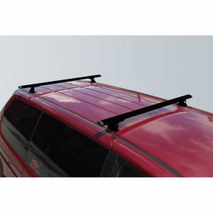 "Vantech Racks - Midsize Van Racks - Vantech - Vantech J1020B Black Rack System with 72"" Cross Bars Black Aluminum Drilling Required"