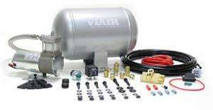 "Viair Air Kits - Air Accessories - Viair - Viair 90080 2"" Dual Needle Gauge Black Face Illuminated 220 PSI"