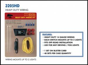 Eagle Eye Lighting | HID and Non HID Lights - Non HID Lighting - Eagle Eye Lights - Eagle Eye Lights 3205HD Wiring Kit for 2 Lights 14 Gauge Wiring 20 AMP Fuse Kit