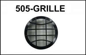 "Eagle Eye Lighting | HID and Non HID Lights - Non HID Lighting - Eagle Eye Lights - Eagle Eye Lights CV-505-GRILL Black Grille Guard for 4 31/32"" HID505 and Non-HID HG505 Lights with Wording ""HID"" Each"
