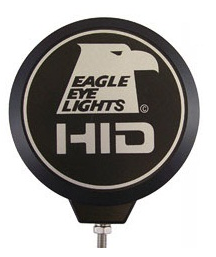 "Eagle Eye Lights - Eagle Eye Lights CV-608-CVR Black ABS Cover with Eagle Eye Lights Logo and Wording ""HID"" Each"