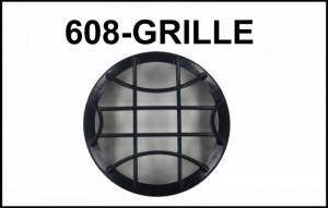 "Eagle Eye Lighting | HID and Non HID Lights - Non HID Lighting - Eagle Eye Lights - Eagle Eye Lights CV-608-GRILL Black Grille Guard for 6 3/16"" HID608 and Non-HID HG608 Lights No Wording Each"