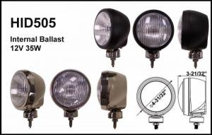 "Eagle Eye Lighting | HID and Non HID Lights - 4"" HID Internal Lights - Eagle Eye Lights - Eagle Eye Lights HID505BD 4 31/32"" Black 35W Internal Ballast HID Driving Clear Round HID Off Road Light WABS Cover Each"