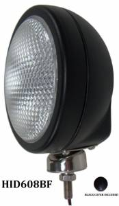 "Eagle Eye Lighting | HID and Non HID Lights - 6"" HID Internal Lights - Eagle Eye Lights - Eagle Eye Lights HID608BF 6 3/16"" Black 35W Internal Ballast HID Flood Clear Round HID Off Road Light with ABS Cover Each"