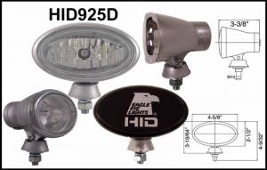"Eagle Eye Lighting | HID and Non HID Lights - HID External Lights - Eagle Eye Lights - Eagle Eye Lights HID925D 4 5/8"" Aluminum DieCast SILVER 35W External Ballast HID Driving Clear Oval HID Off Road Light with ABS Covers Each"