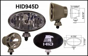 "Eagle Eye Lighting | HID and Non HID Lights - HID External Lights - Eagle Eye Lights - Eagle Eye Lights HID945D 6 7/32"" Aluminum DieCast SILVER 35W External Ballast HID Driving Clear Oval HID Off Road Light with ABS Cover Each"